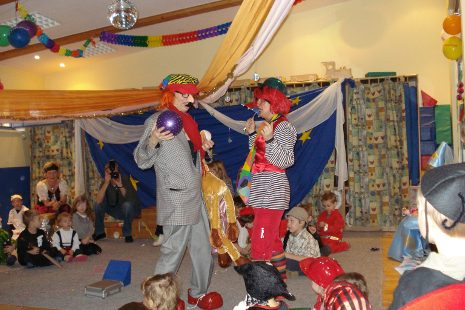 Clowns beim Fasching